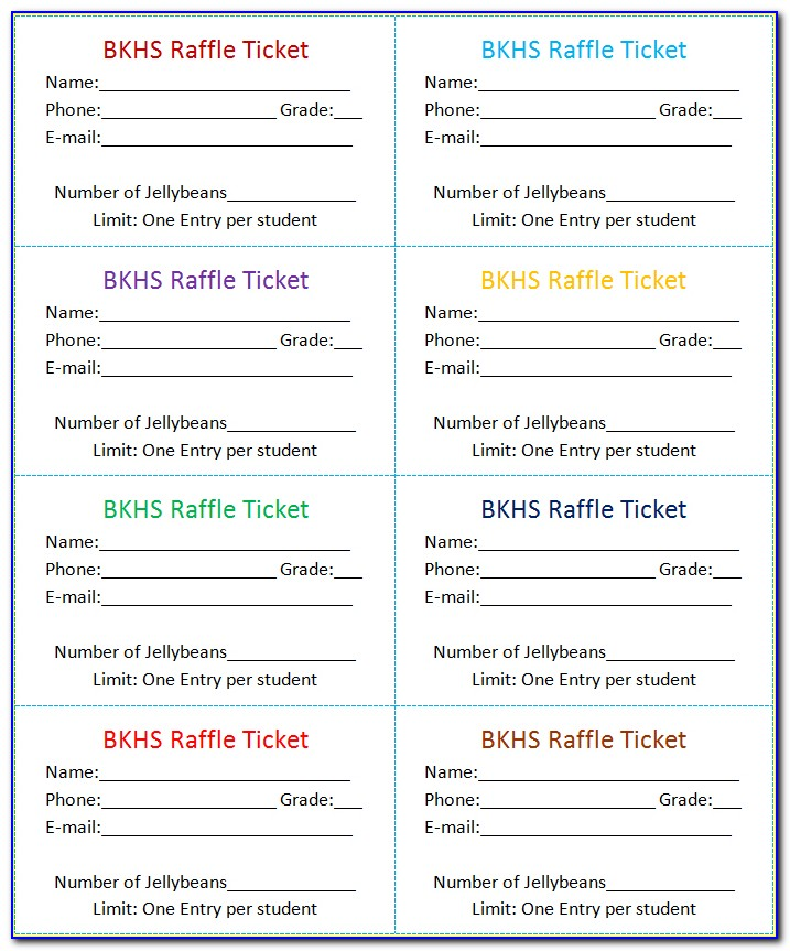 Excel Raffle Ticket Template Free Download