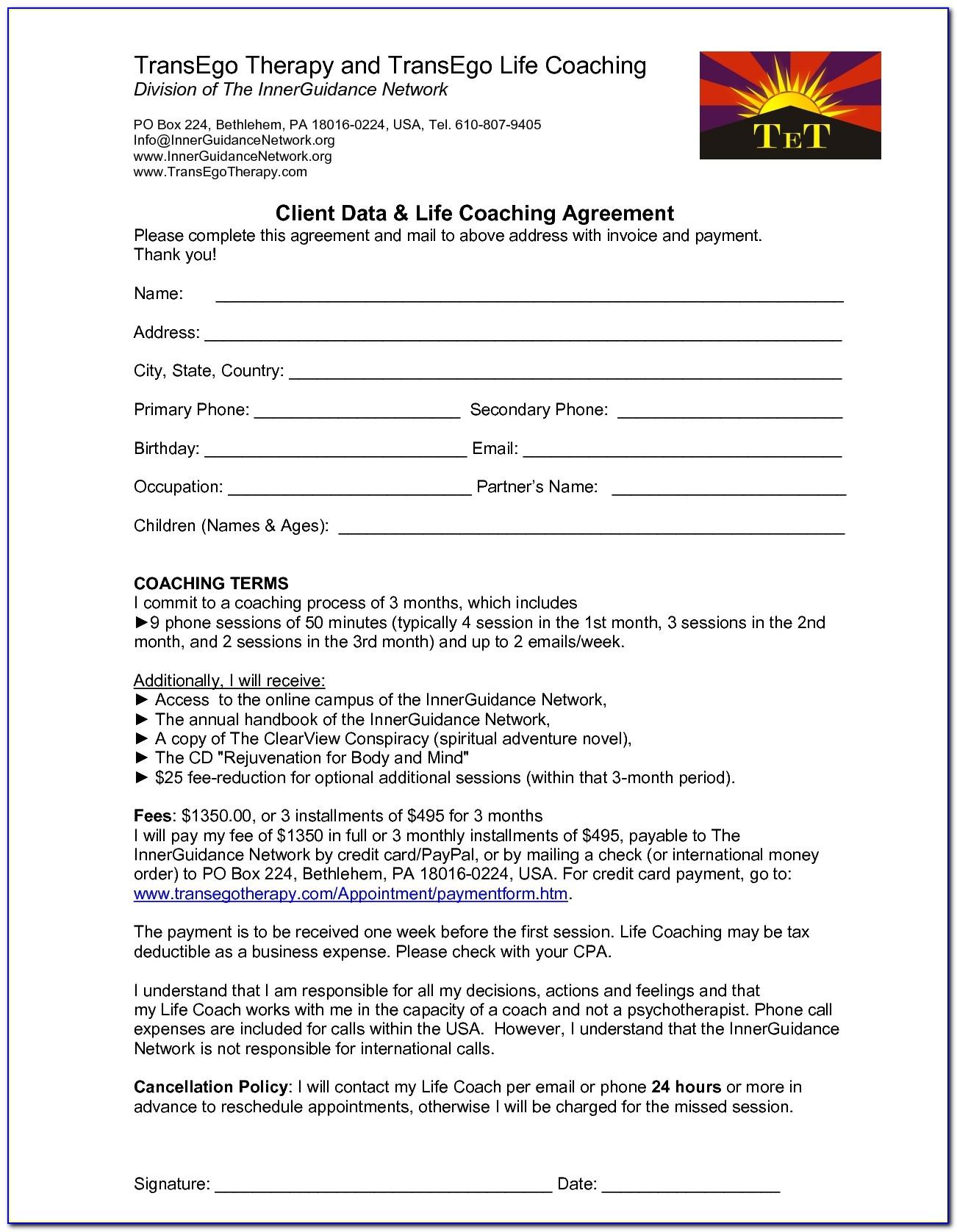 Executive Coaching Forms