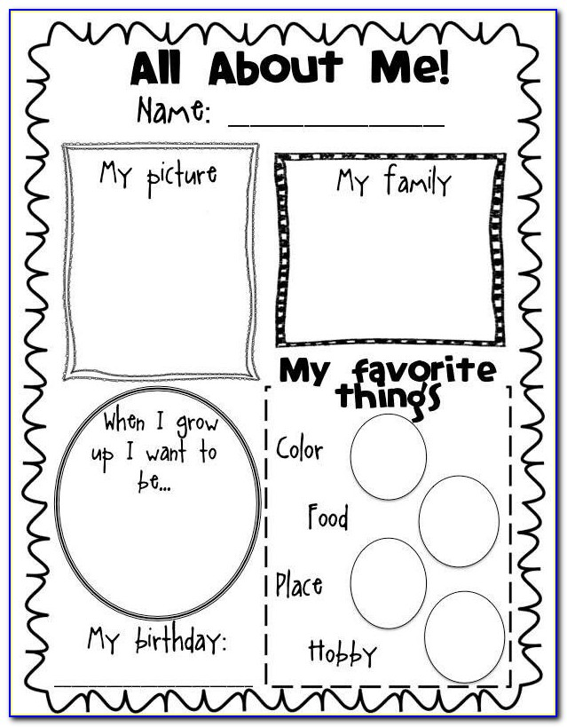 Extra Extra Read All About Me Poster Template