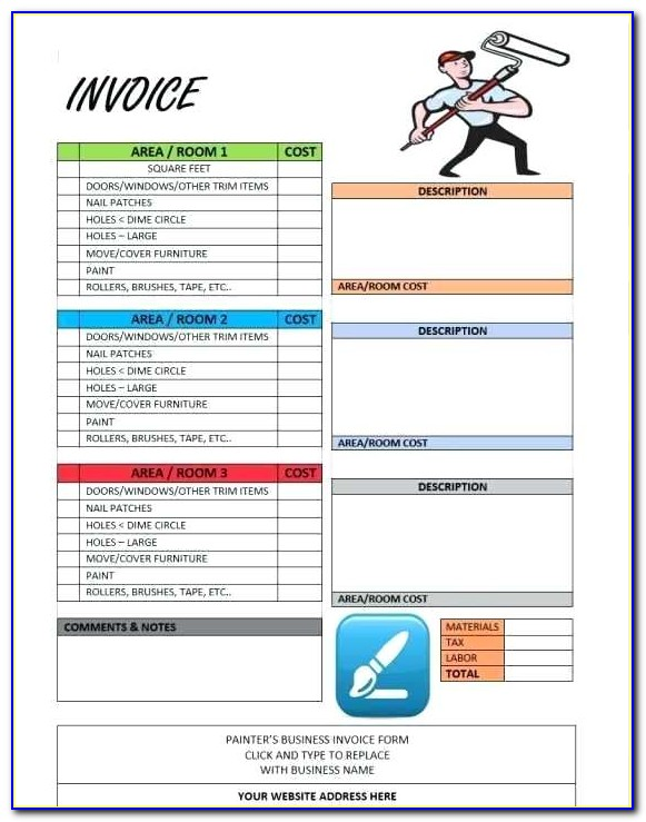 Face Painting Invoice Template