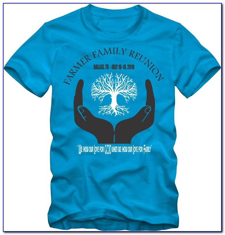 Family Reunion T Shirt Design Template Psd