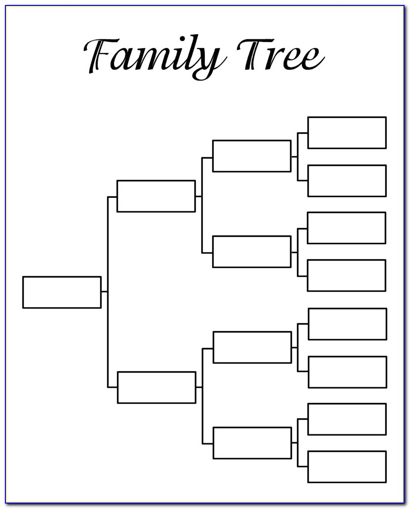 Family Tree Chart Template Excel