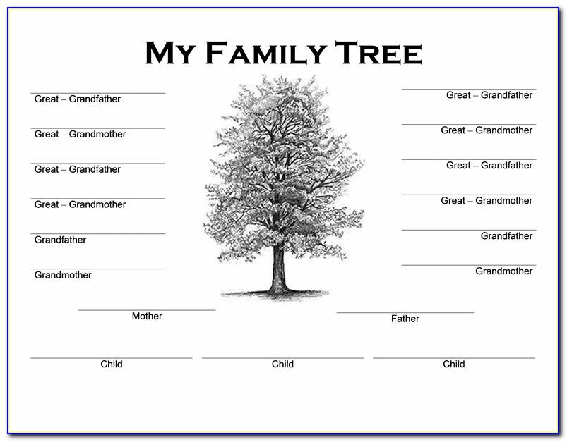 Family Tree Fan Chart Template