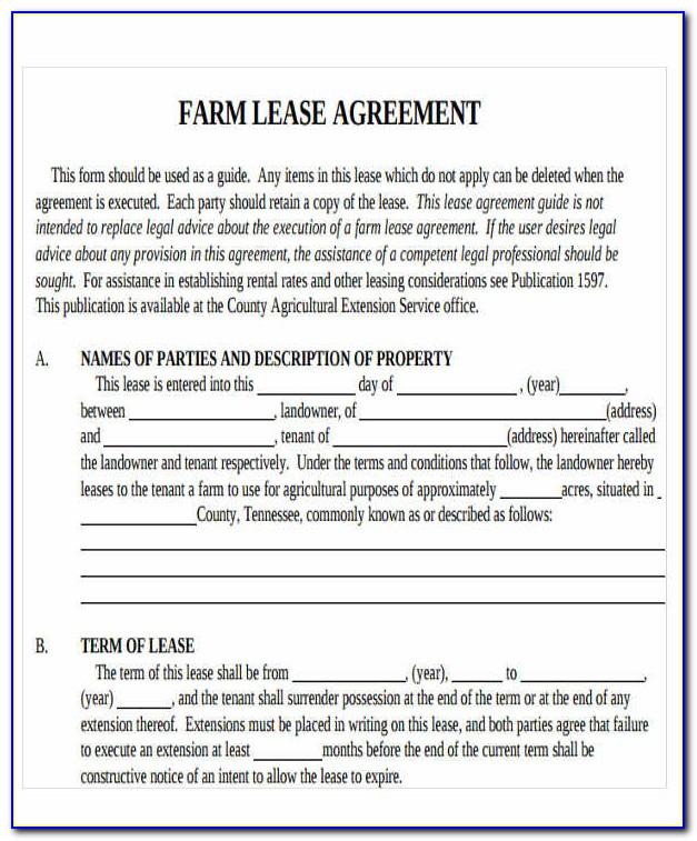 Farm Lease Agreement Template Australia