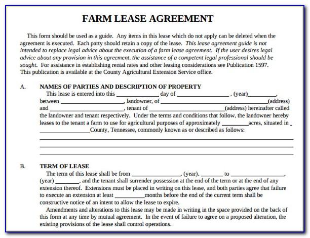 Farm Lease Agreement Template Victoria Australia