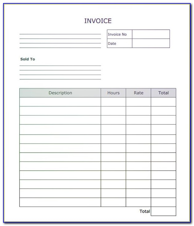 Fillable Proforma Invoice Template
