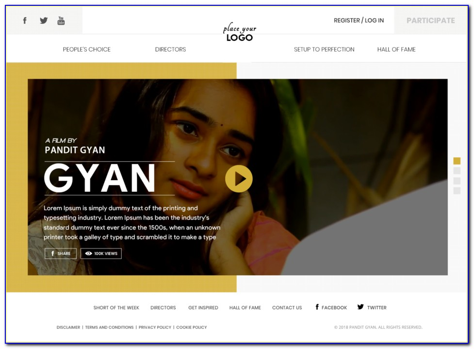 Film Production House Website Template