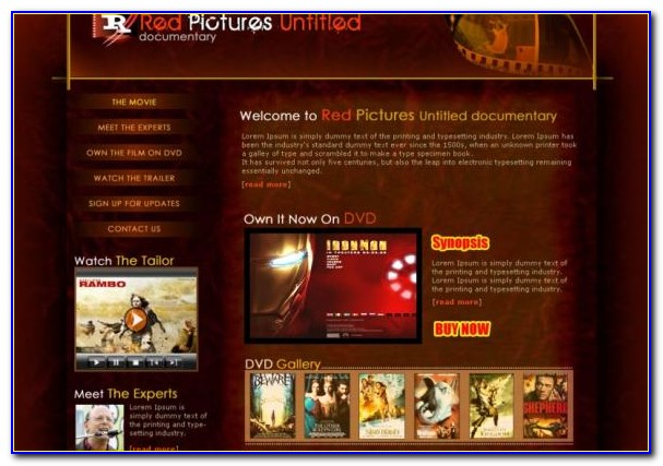 Film Production Website Template Free Download