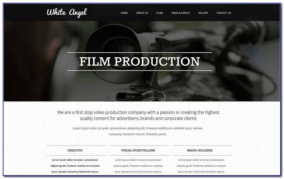 Film Production Website Template Free