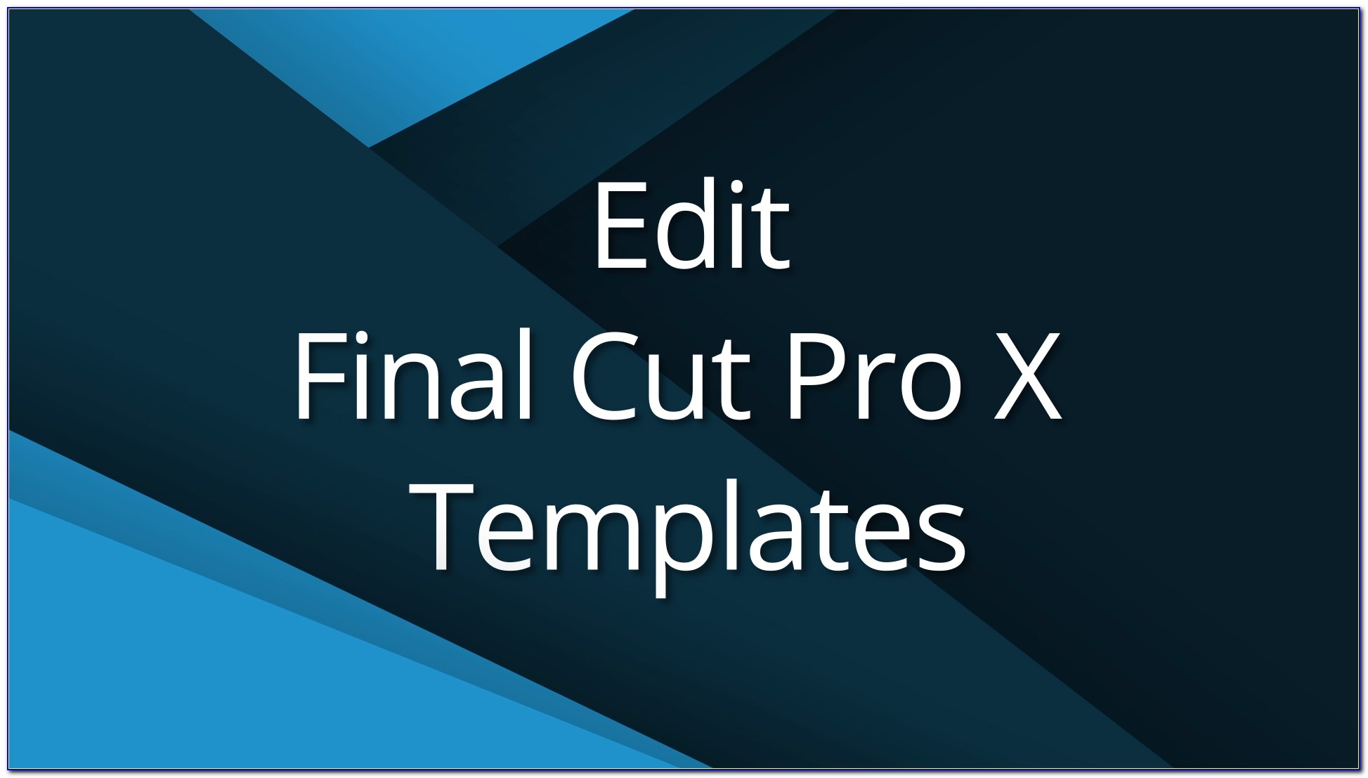 Final Cut Pro Sports Templates Free