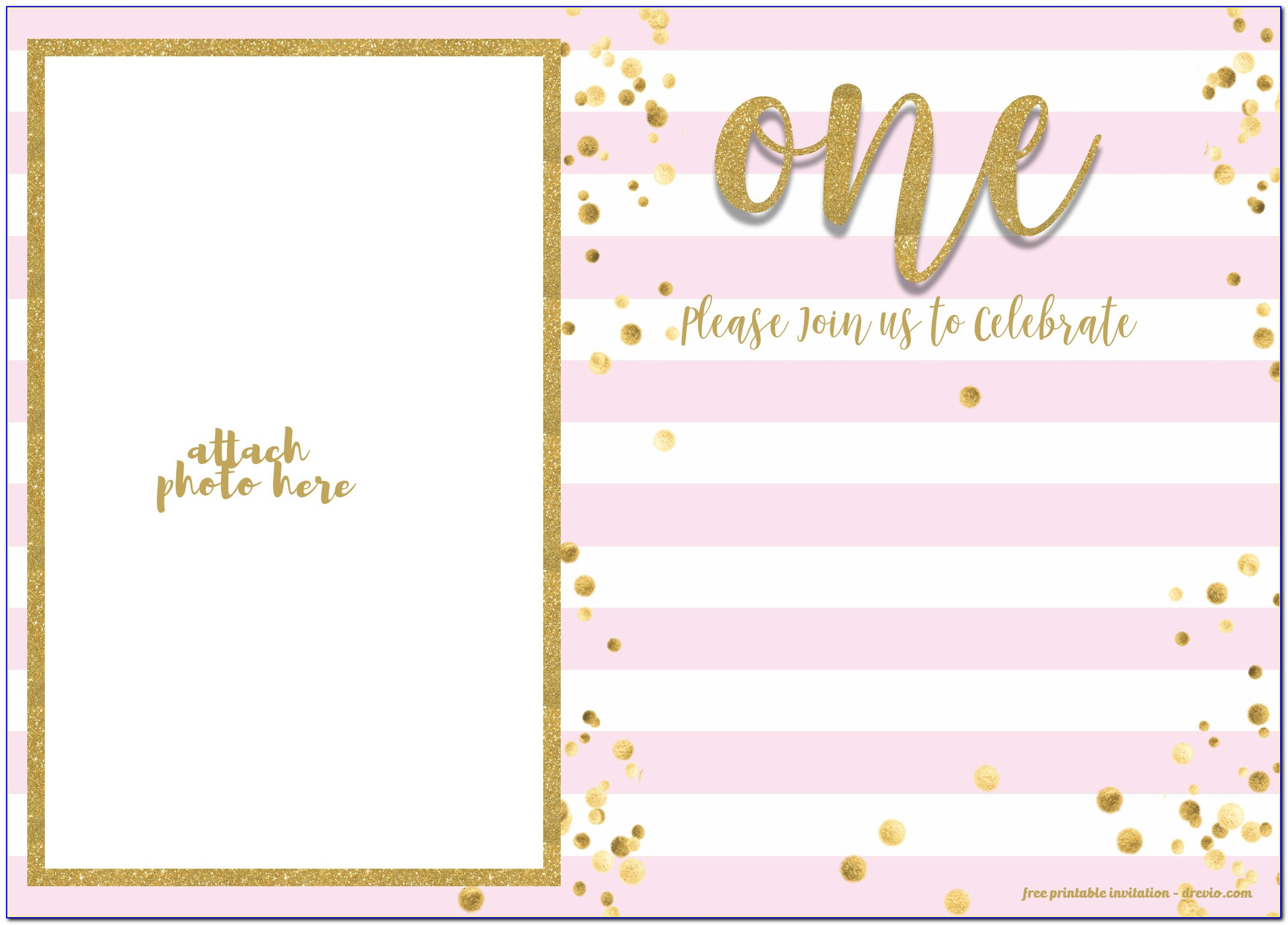First Birthday Invitation Template Free Online