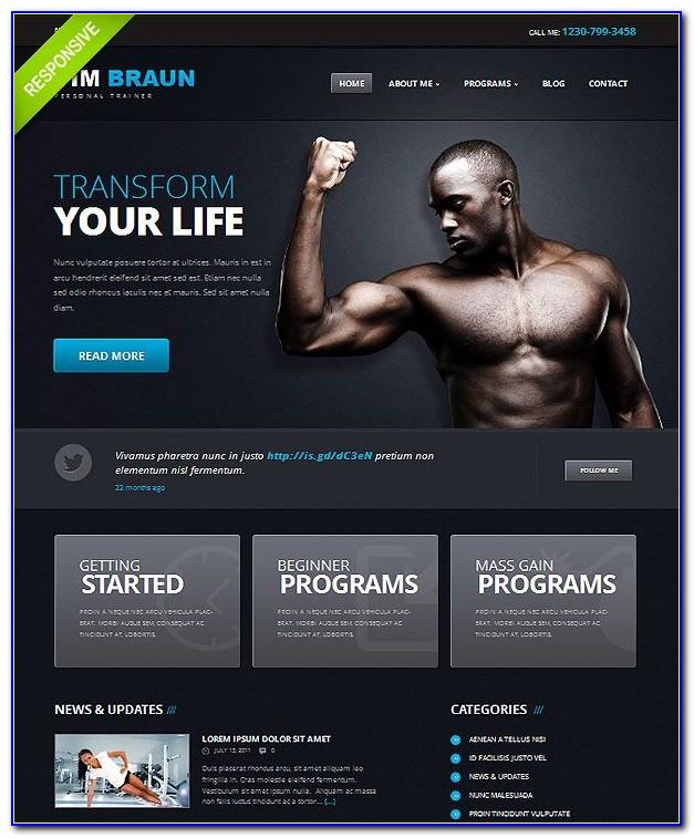 Fitness Trainer Website Templates