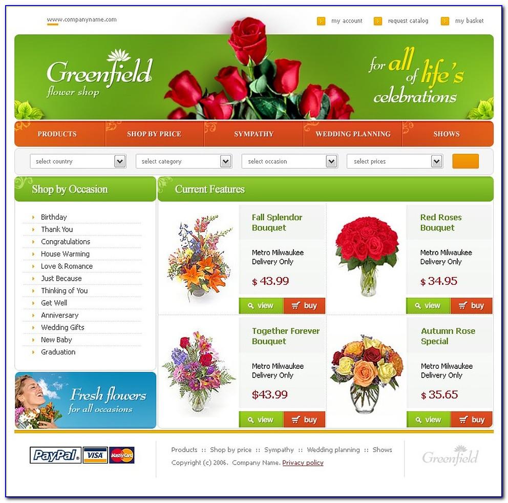 Florist Website Templates Wordpress