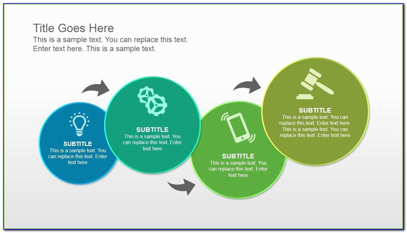 Flow Chart Ppt Template Free Download Clean Process Flow Diagram With Circles & Powerpoint Icons