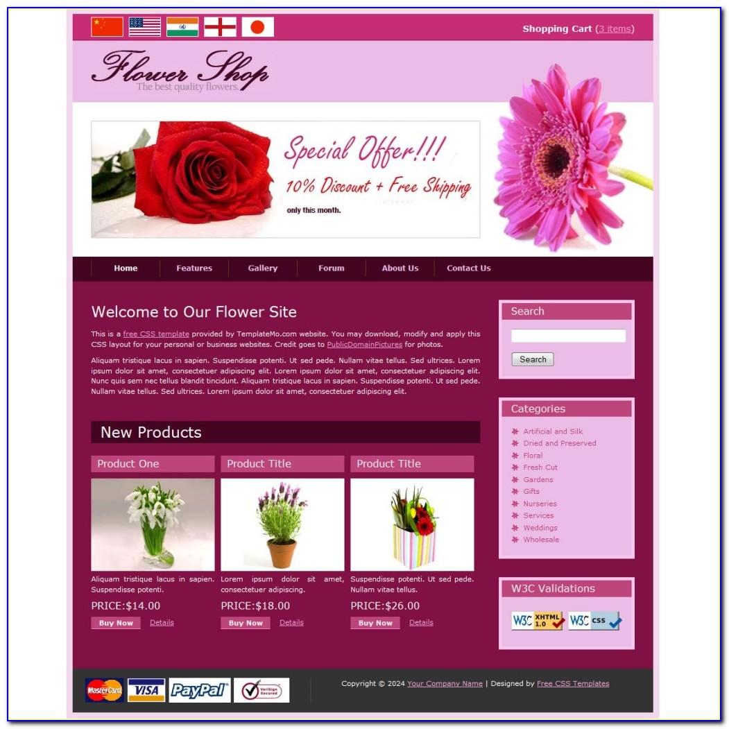 Flower Website Templates Free Download