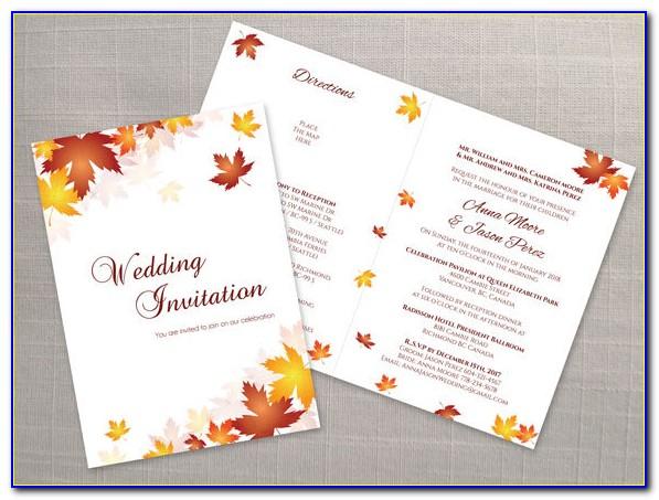 Folded Invitation Template Word