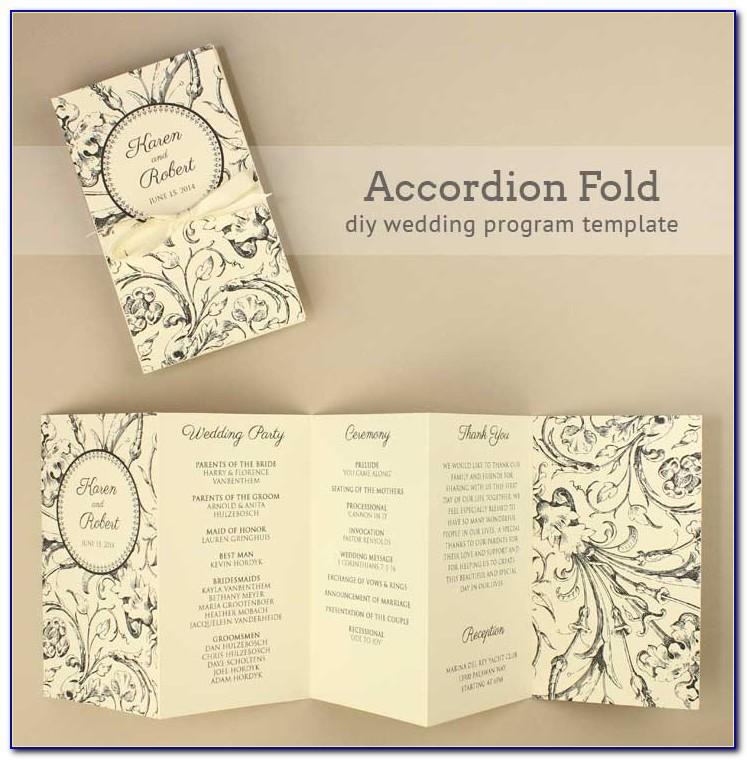 Folded Wedding Invitation Templates Free