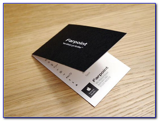 Folding Business Cards Template