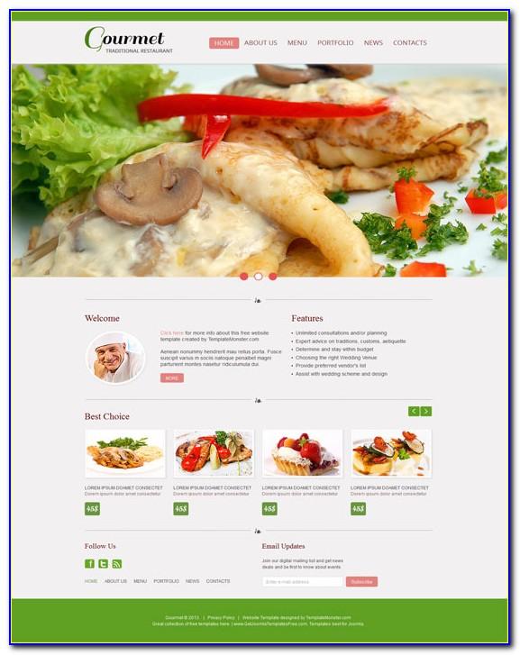 Food Restaurant Website Templates Free Download