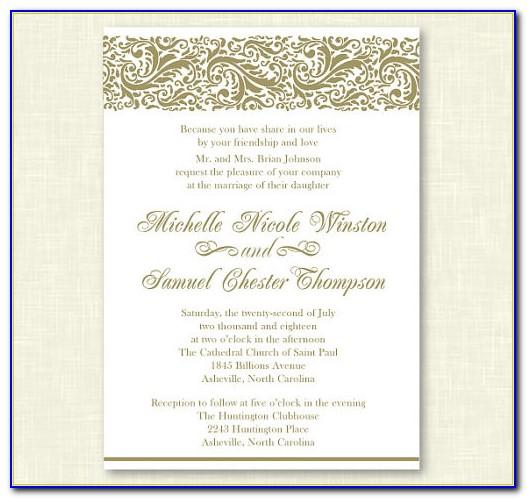 Formal Invitation Card Template Free