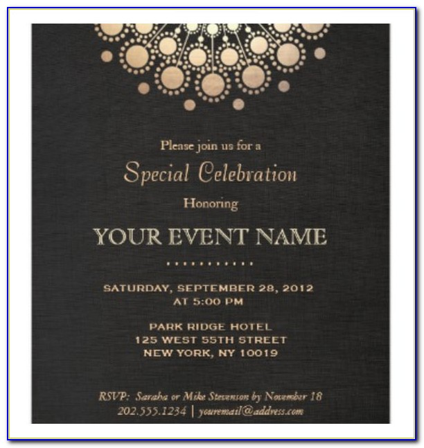 Formal Invitation Template Free Download