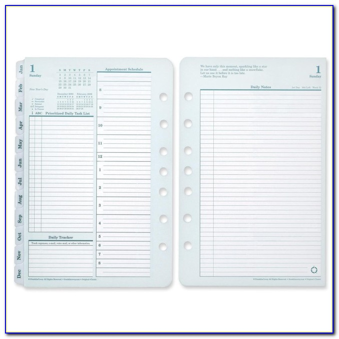Franklin Covey Planner Templates