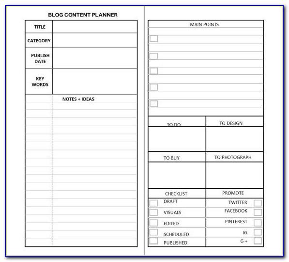 Franklin Planner Excel Templates