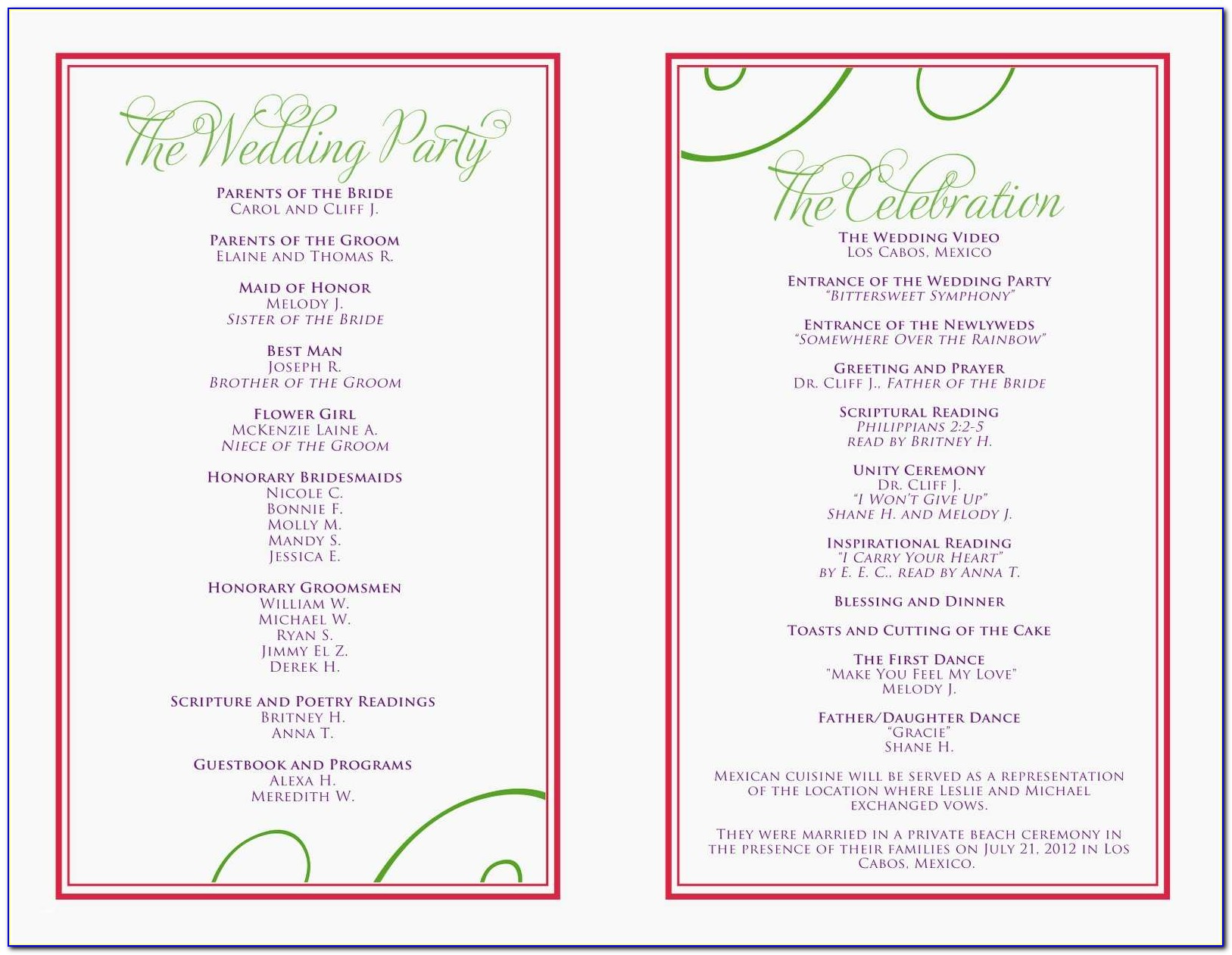 50th Birthday Party Program Elegant Birthday Program Template Unique Free Wedding Itinerary Template
