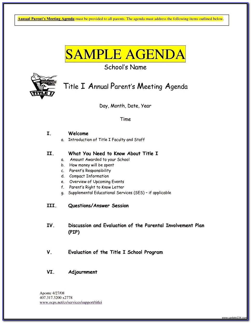 Free Meeting Agenda Templates