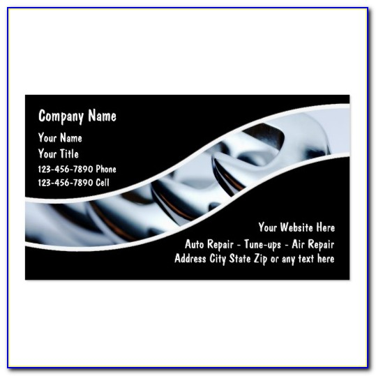 Free Automotive Repair Business Card Templates