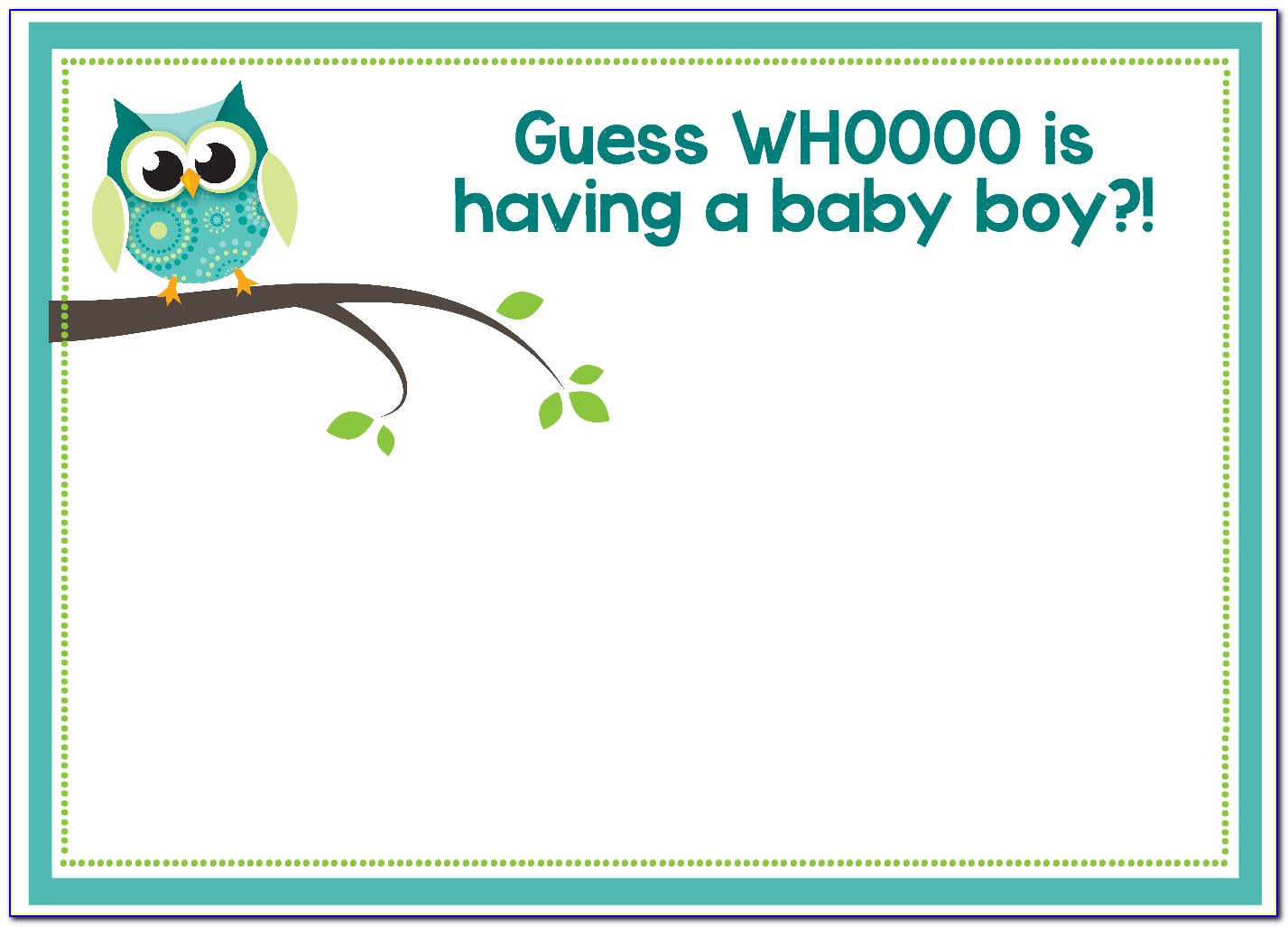 Free Baby Boy Announcement Templates Photoshop