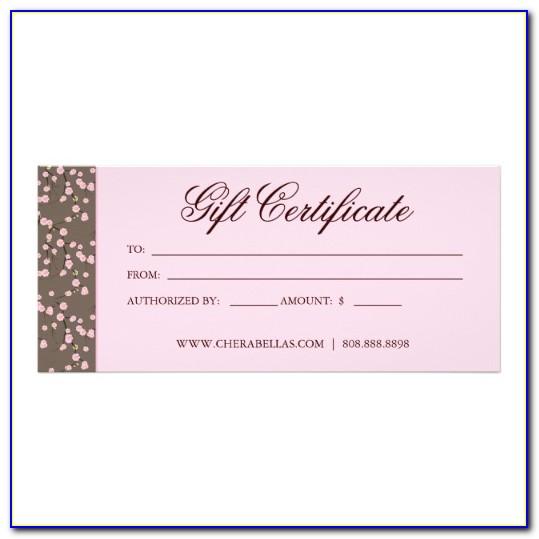 Free Beauty Salon Gift Certificate Templates