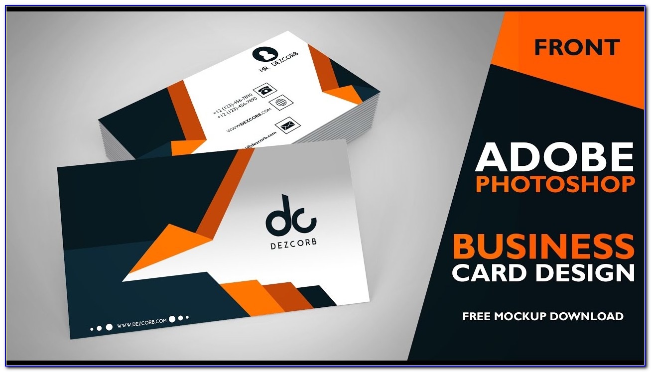 Business Card Design In Photoshop Cs6 | Front | Photoshop Tutorial Throughout Business Card Template For Photoshop