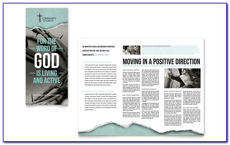 Free Church Brochure Templates For Microsoft Word