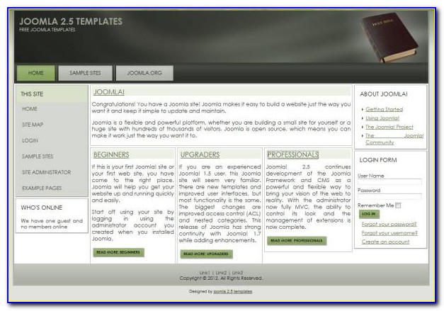 Free Church Joomla 3.0 Templates