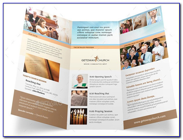 Free Church Welcome Brochure Templates