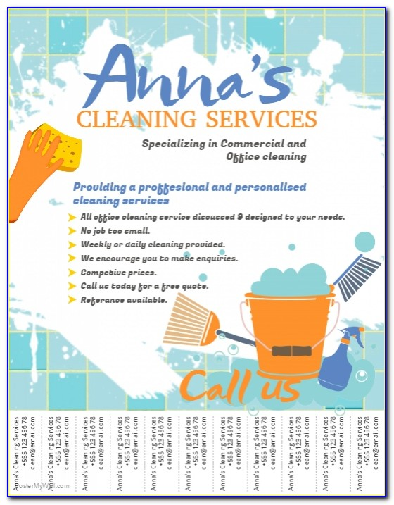 Free Cleaning Business Flyer Templates