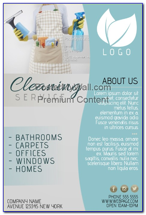 Free Cleaning Service Flyer Templates