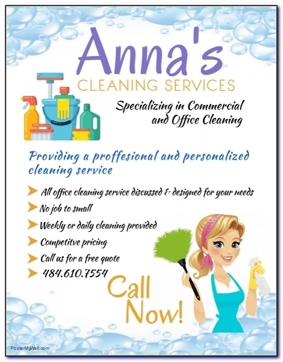 Free Cleaning Services Advertising Templates