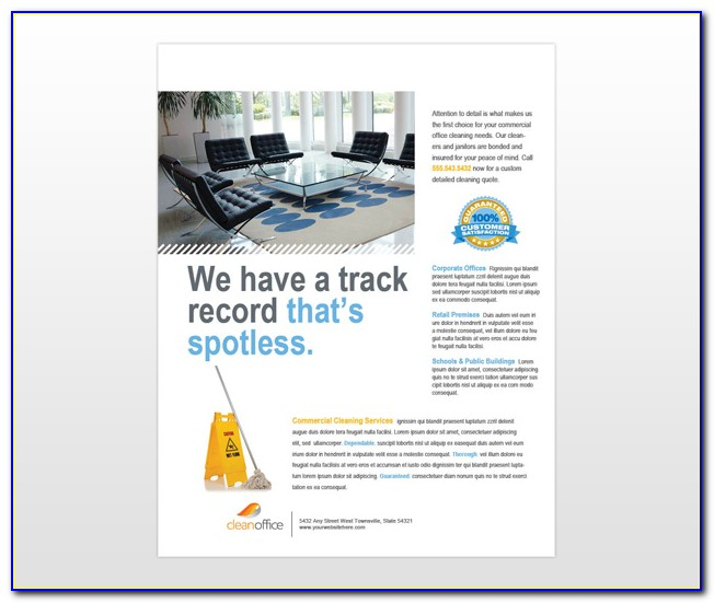 Free Commercial Cleaning Brochure Templates