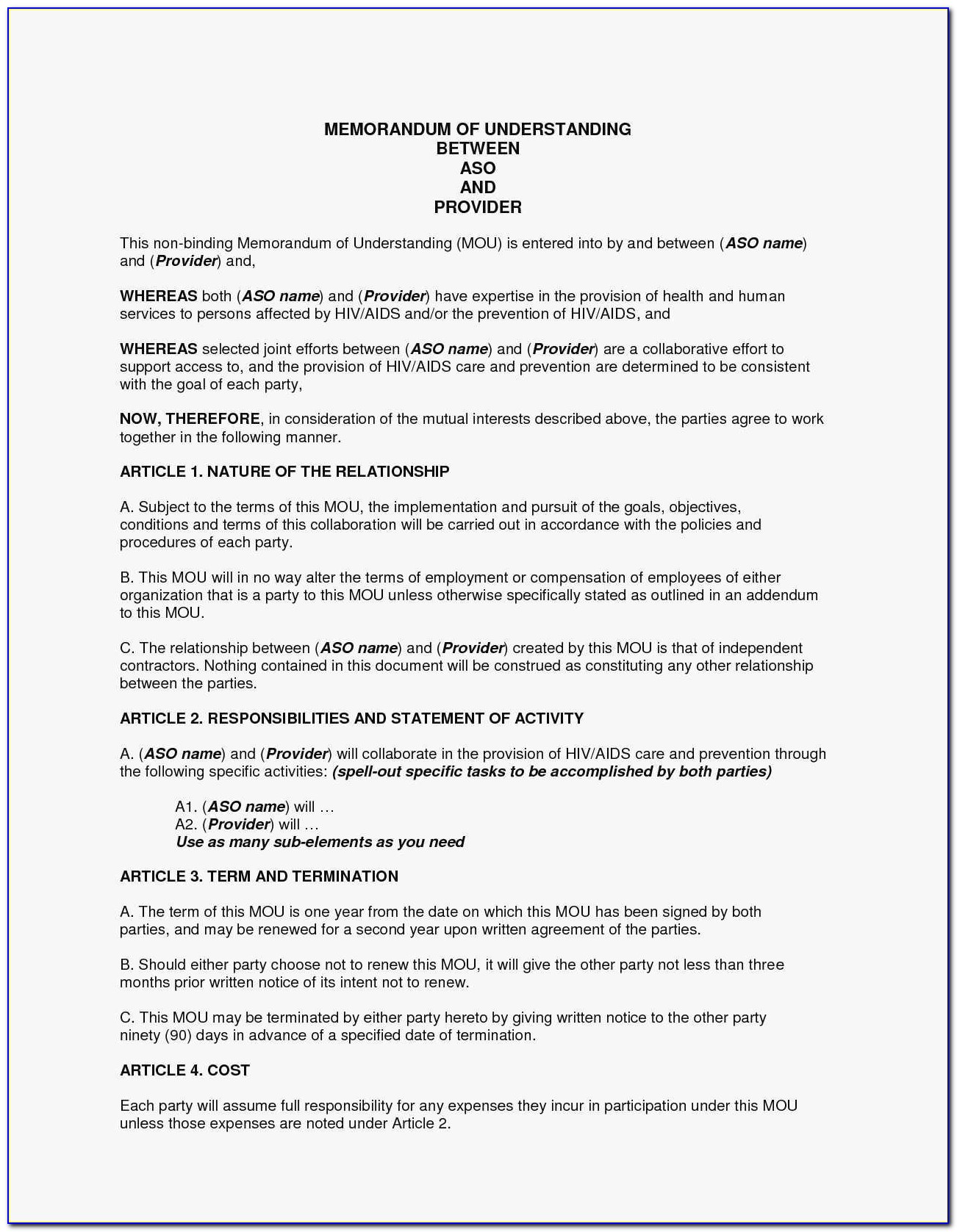 Free Commercial Lease Agreement Template Download Uk Inspirational Sample Memorandum Of Understanding Business Partnership Doc By