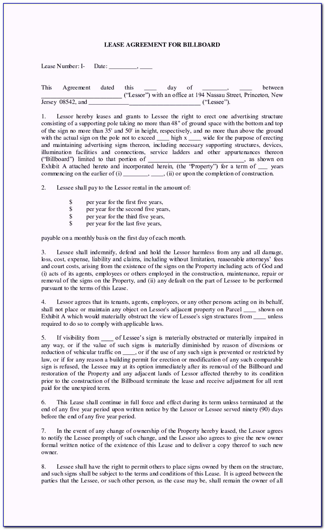 Commercial Rental Agreement Template Uk Free