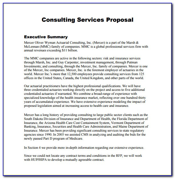 Free Consulting Proposal Templates