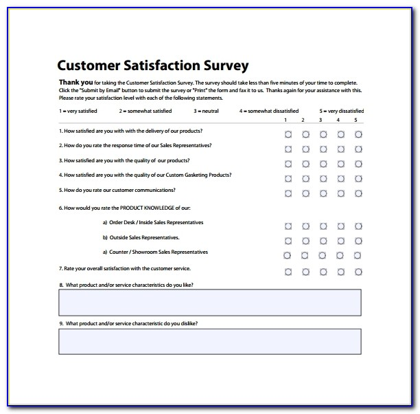 Customer Survey Template 5+ Download Free Documents In Pdf Inside Customer Survey Template