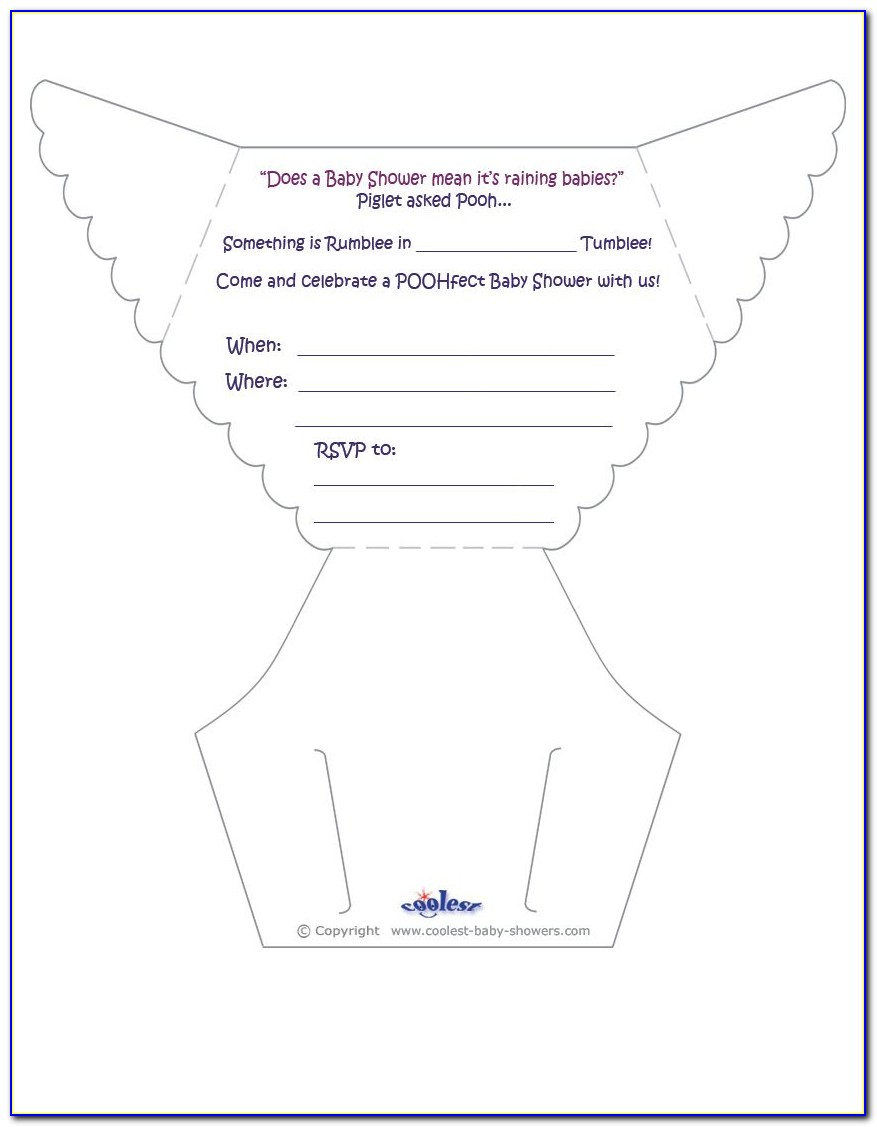 Free Diaper Shower Invitation Templates