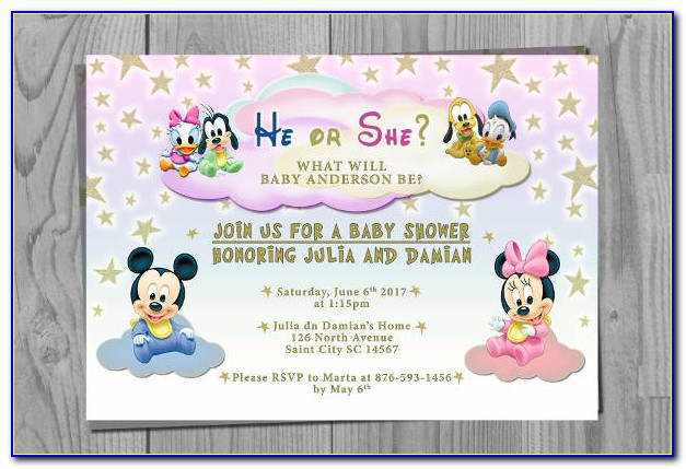 Free Disney Baby Shower Invitation Templates