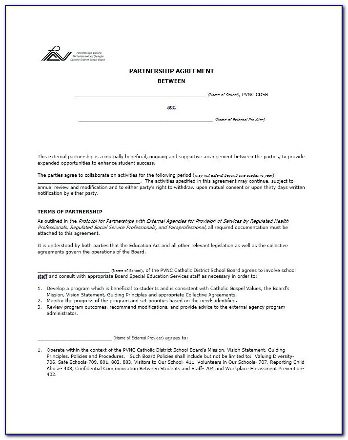Free Download Partnership Agreement Template South Africa