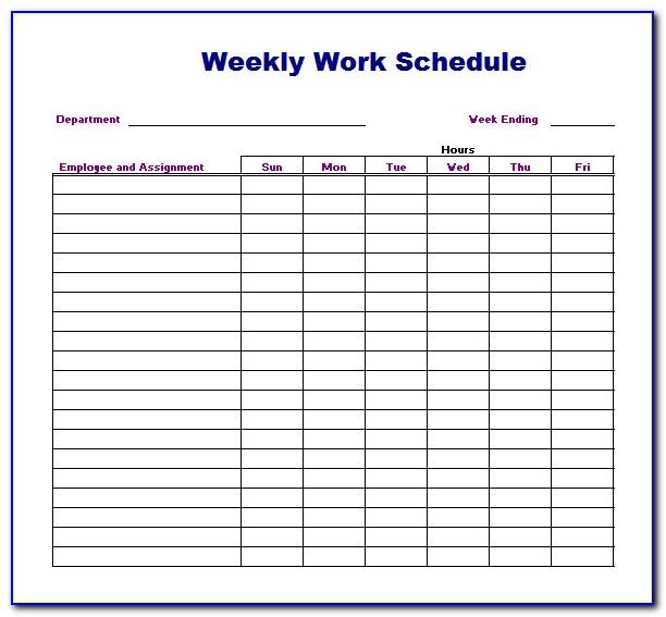 Free Download Work Plan Template