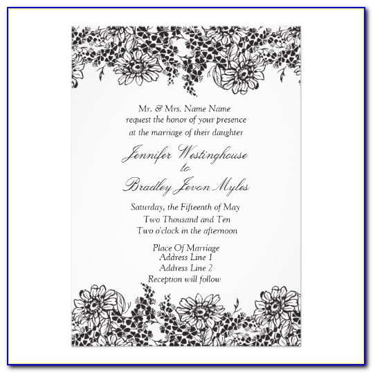 Free Downloadable Black And White Wedding Invitation Templates