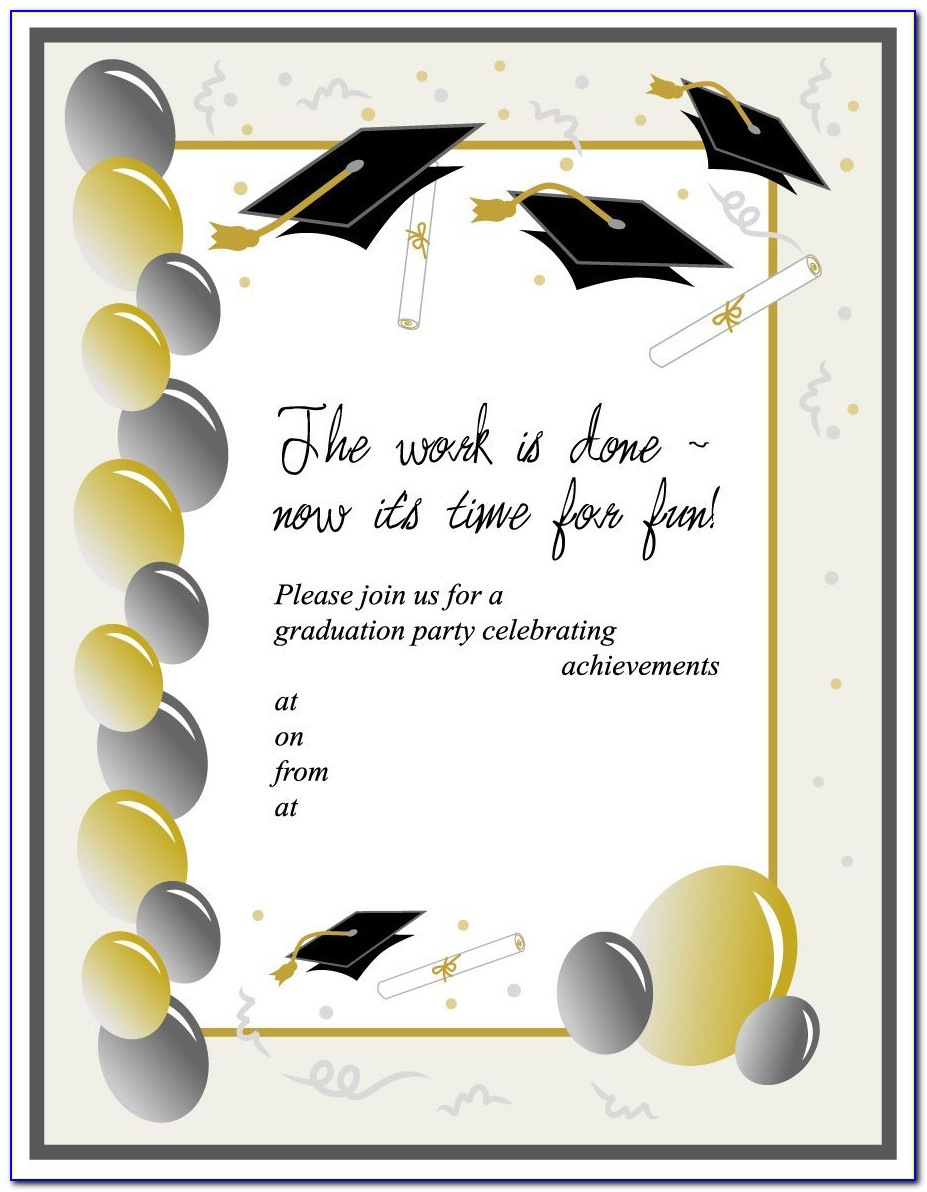 Free Downloadable Graduation Announcement Templates